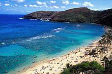 HAWAII ハワイ 綺麗 海 ミニ画 海外 風景の画像(プリ画像)