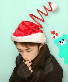 クリスマス帽子の画像(コーデに関連した画像)