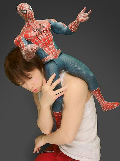 スパイダーマンと一緒♪の画像(プリ画像)