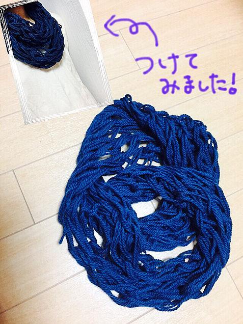 スヌード/腕編みの画像(プリ画像)