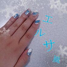 アナ雪ネイルの画像(雪ネイルに関連した画像)