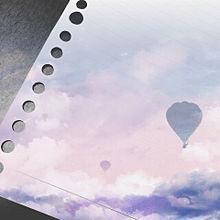 ルーズリーフ 雲の上の画像(プリ画像)