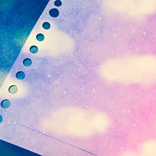 ピンク空 ルーズリーフの画像(プリ画像)