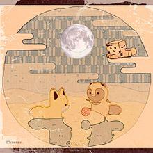 キツネとタヌキのコラボの画像(プリ画像)