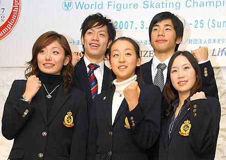 2007世界フィギュア 会見の画像(プリ画像)