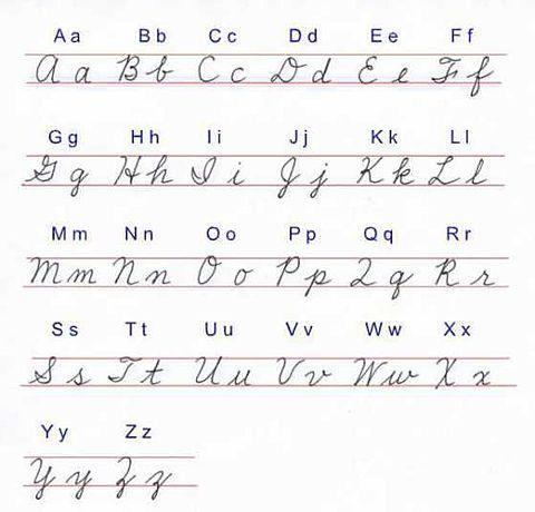 筆記体の画像(プリ画像)