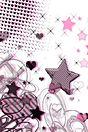 星 ピンク 可愛い 背景 高画質 プリ画像