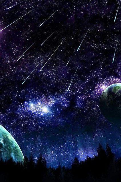 星空 流れ星 神秘的 背景 高画質の画像 プリ画像