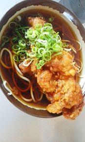 唐揚げ蕎麦の画像(プリ画像)