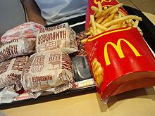 マクドナルド フライドポテト ハンバーガー ダブルチーズの画像(プリ画像)