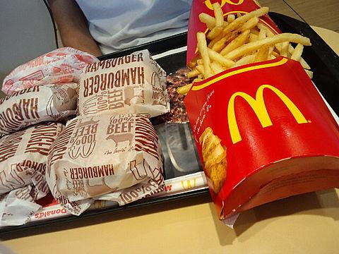 マクドナルド フライドポテト ハンバーガー ダブルチーズの画像 プリ画像