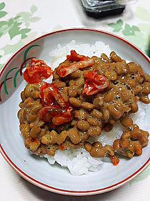 白米 ご飯 納豆 キムチ 発酵食品の画像(プリ画像)