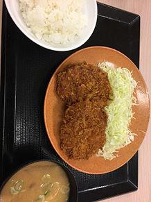 メンチカツ定食 かつや 揚げ物 ごはん 豚汁の画像(豚汁に関連した画像)
