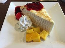 デザート スイーツ フルーツ ミルクレープ 生クリームの画像(ミルクレープに関連した画像)