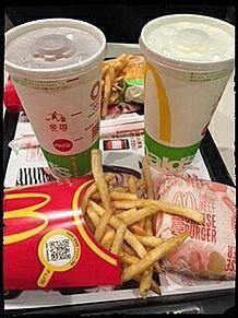 マクドナルド フライドポテト ダブルチーズバーガーの画像(バーガーに関連した画像)