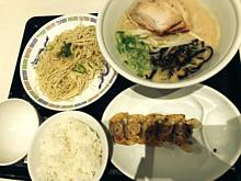 一風堂 ラーメン 餃子 白米 替え玉の画像(ラーメンに関連した画像)