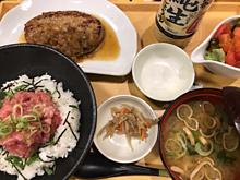 ココス まぐろたたき丼&ハンバーグ膳 プリ画像