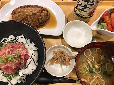 ココス まぐろたたき丼&ハンバーグ膳の画像 プリ画像
