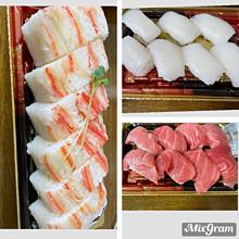 京北スーパー 蟹の押し寿司 中トロ イカの画像(蟹に関連した画像)