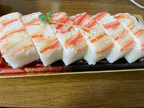 蟹の押し寿司 京北スーパーの画像(プリ画像)