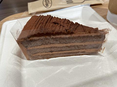 チョコレートケーキ 喫茶店の画像(プリ画像)