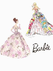 バービー barbie 素材 ドレス プリ画像