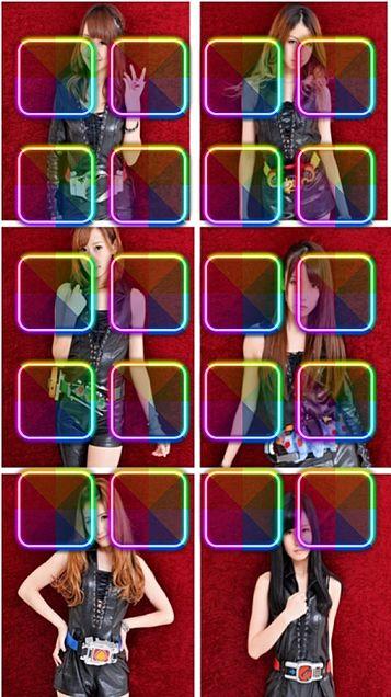 仮面ライダーGIRLS i-podtoubh5ホーム画面の画像 プリ画像