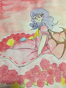 一応レミリアの絵の画像(レミリア・スカーレットに関連した画像)
