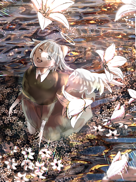 今日は贈ろう、白花を君にの画像(プリ画像)
