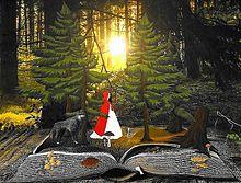 #幻想ファンタジー#赤ずきん#狼の画像(絵本 素材に関連した画像)