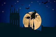 #Halloween#ハロウィン#魔女#満月#素材#壁紙の画像(満月に関連した画像)