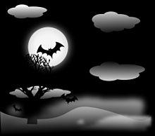 #Halloween#ハロウィン#コウモリ#満月#素材#壁紙の画像(満月に関連した画像)