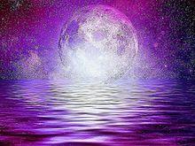 無断マイコレ🈲幻想的#月#海#素材#背景#壁紙 プリ画像
