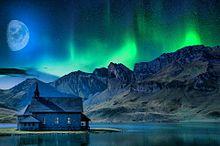 #幻想的#幻想風景#冬#オーロラ#素材#壁紙 プリ画像