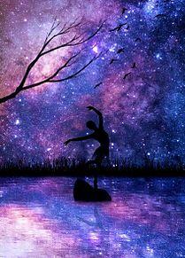 #幻想ファンタジー#バレリーナ#夜空#星空 プリ画像