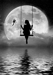 #幻想ファンタジー#月#満月の画像(ブランコに関連した画像)
