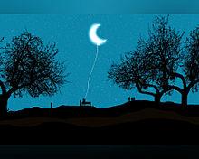 #幻想ファンタジー#三日月#バルーンの画像(幻想的に関連した画像)