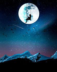 #幻想ファンタジー#幻想的#満月の画像(流れ星に関連した画像)