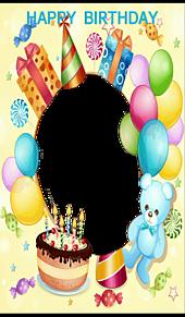 HAPPY  BIRTHDAY*フレーム   (説明文 必読)の画像(プリ画像)