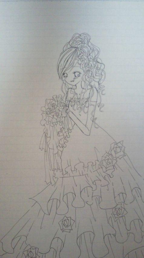 ウェディングドレス 絵の画像 プリ画像