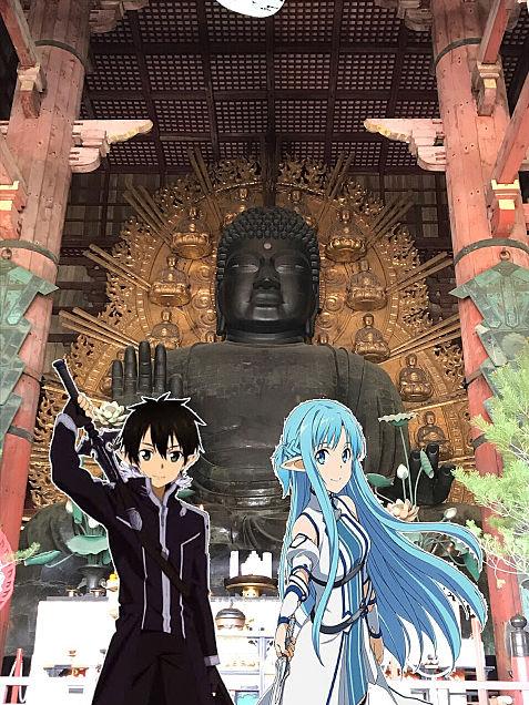 キリトとアスナのデートin奈良の大仏の画像 プリ画像