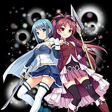 さやか&杏子byウチ姫のコラボ♪の画像(野中藍に関連した画像)
