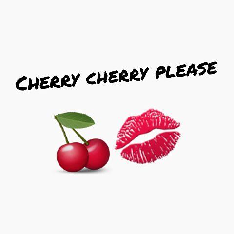cherry and lipの画像(プリ画像)