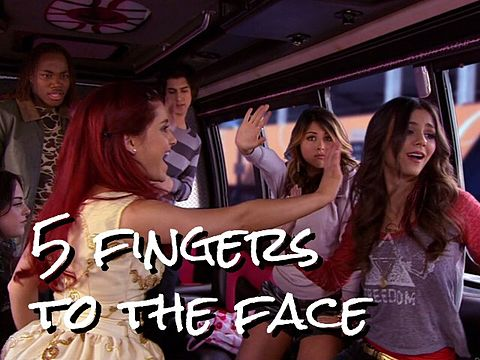 Victorious 5 fingers to the faceの画像(プリ画像)