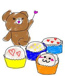 クマのバレンタイン プリ画像