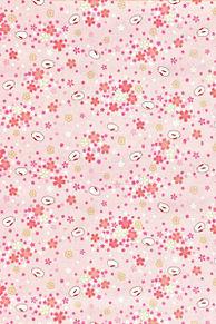 和柄 素材 花柄 桜 うさぎ ピンクの画像(花柄に関連した画像)