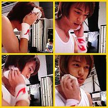 2004年 汗を拭く丸ちゃんの画像(2004に関連した画像)
