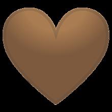 絵文字 茶ハート Android 背景透過 かわいい 素材の画像(茶色に関連した画像)