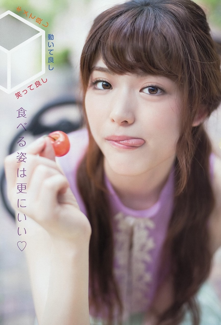 顔の肌がきれいな松村沙友理さん