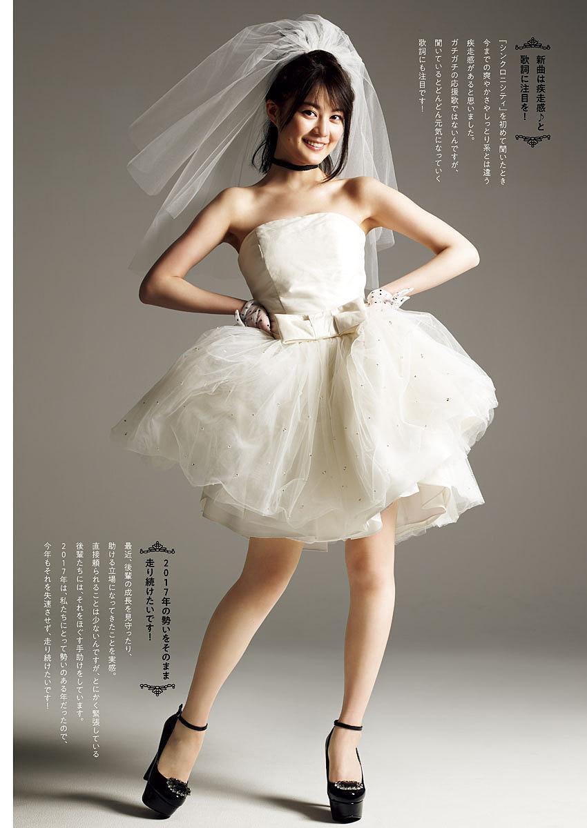 白いベールと白いドレスの生田絵梨花です。